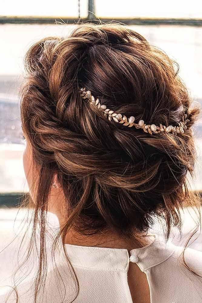 Fishtail Braided Long Hair Updo