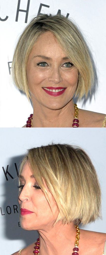 Medium Blonde Straight Bob Haircut