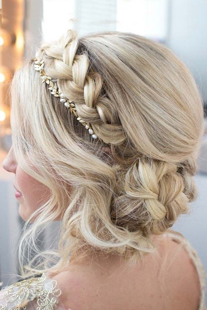 Crown Braided Updo for Long Hair