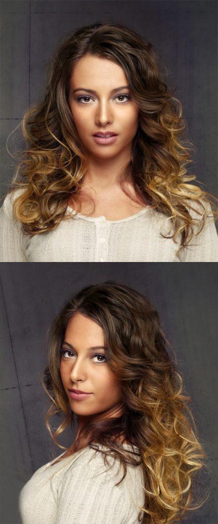 Dark to Light Blonde Curly Hair