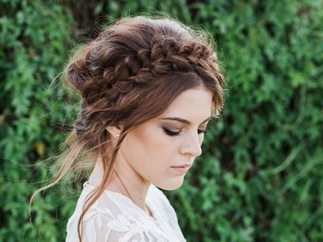 Messy Crown Braided Updo