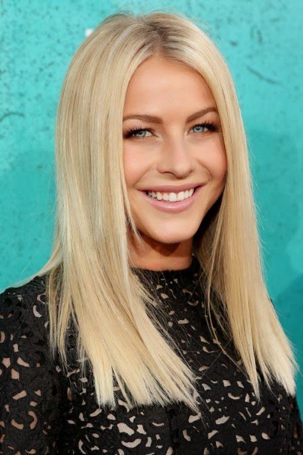 Blonde Layered Straight Hair