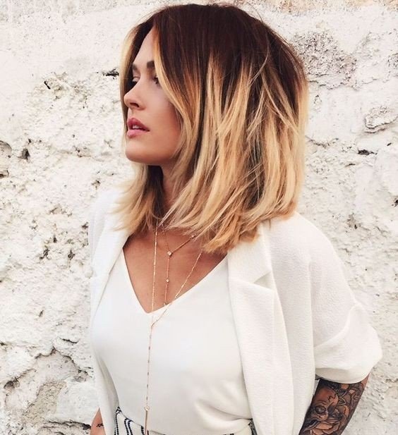 Medium Length Ombre Bob
