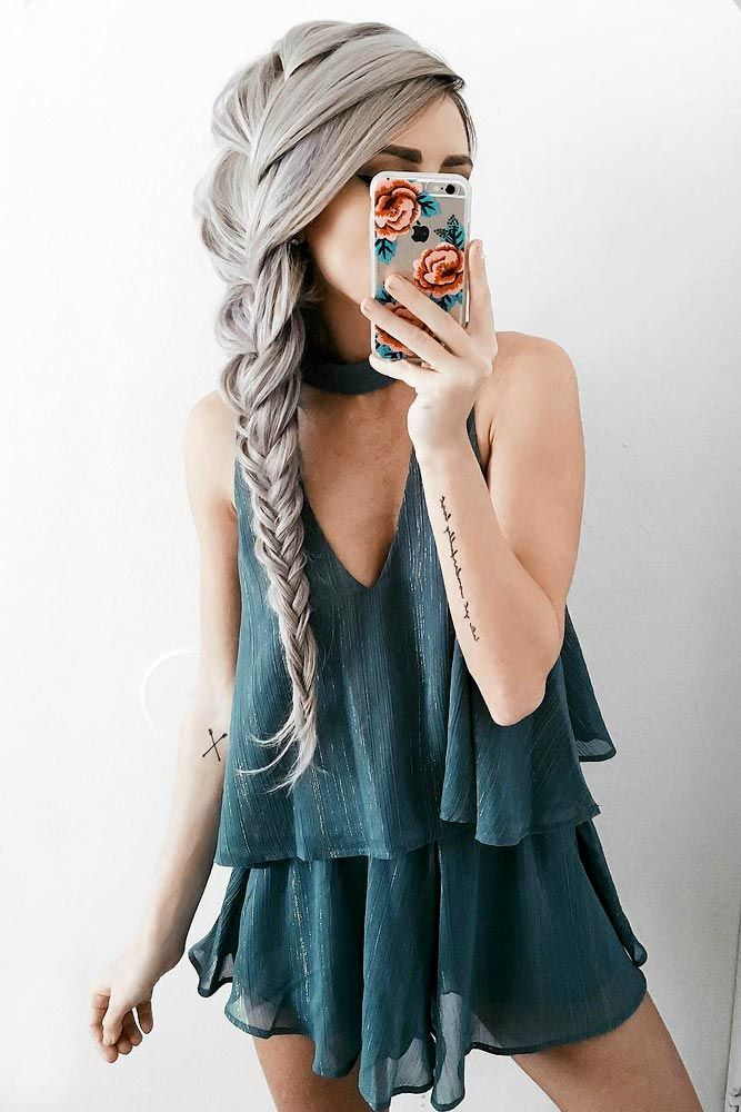 Side Fishtail Braid for Long Hair