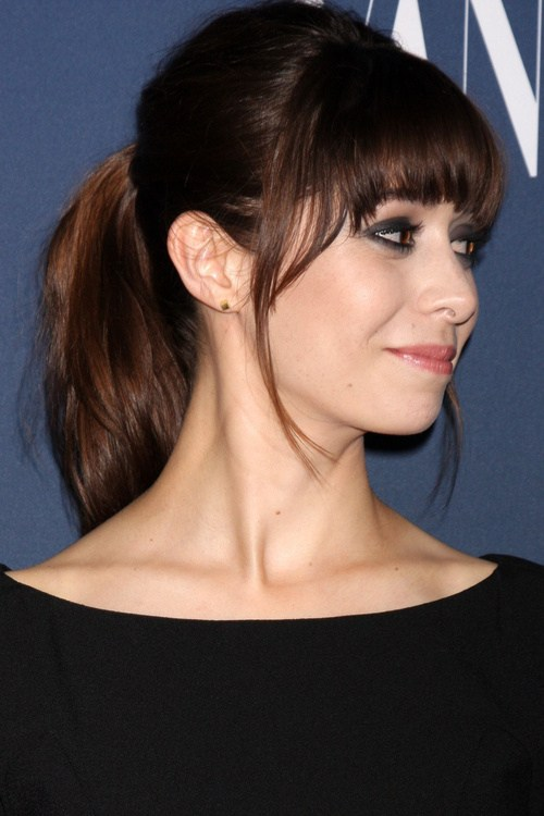Helga Esteb Ponytail With Medium Bangs hairstyle
