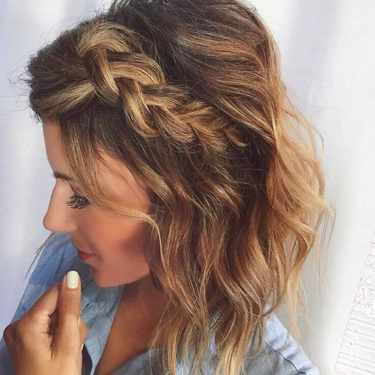 17 Braided Hairstyles For Short Hair Look More Beautiful