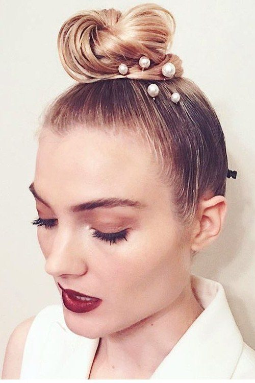 Topknot Hairstyle for Prom