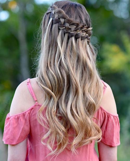Waterfall Braid Hairstyles: 16 Waterfall Braid Hairstyles For Your Beautiful Locks