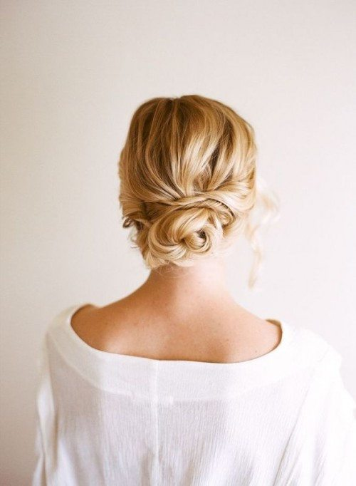 Low Bun Updo for Long Hair