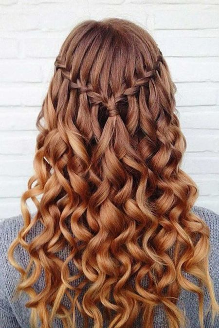 Heart Shaped Waterfall Braid Hairstyle