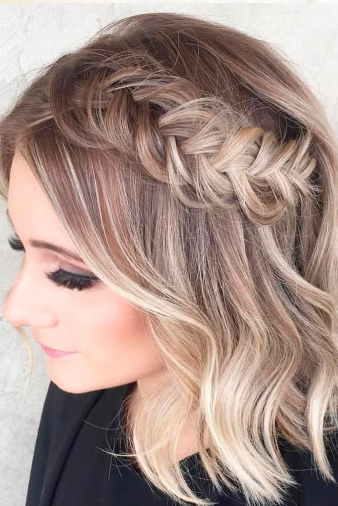 Braided Short Wavy Hair