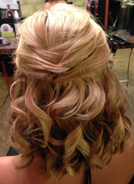 Medium Updo with Curls