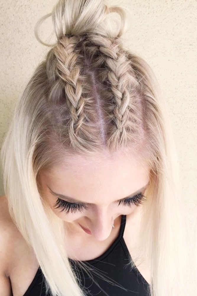 Double Braids for Short Hair