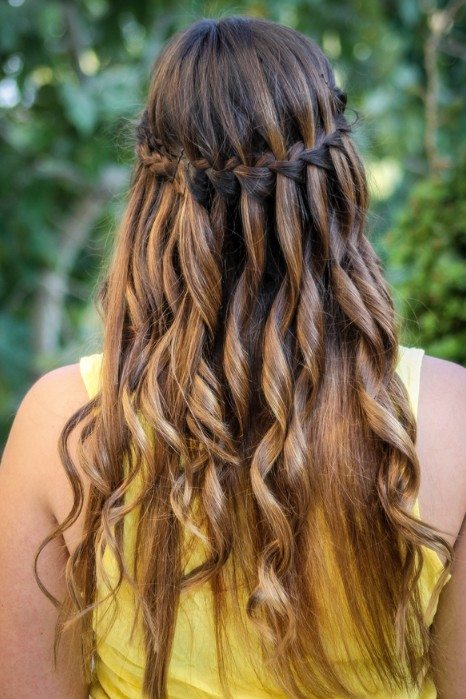 Waterfall Braid with Highlights