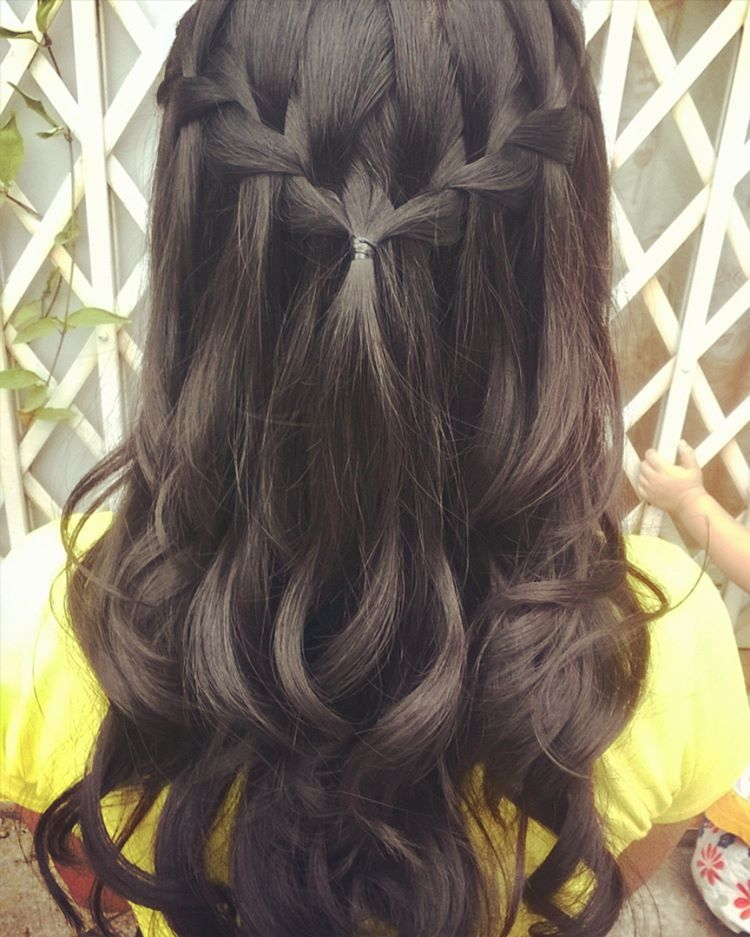 Heart Shaped Waterfall Braid