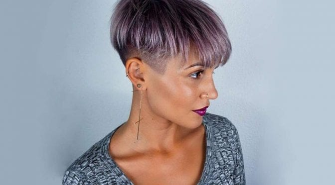 Funky Short Hairstyle with Undercut