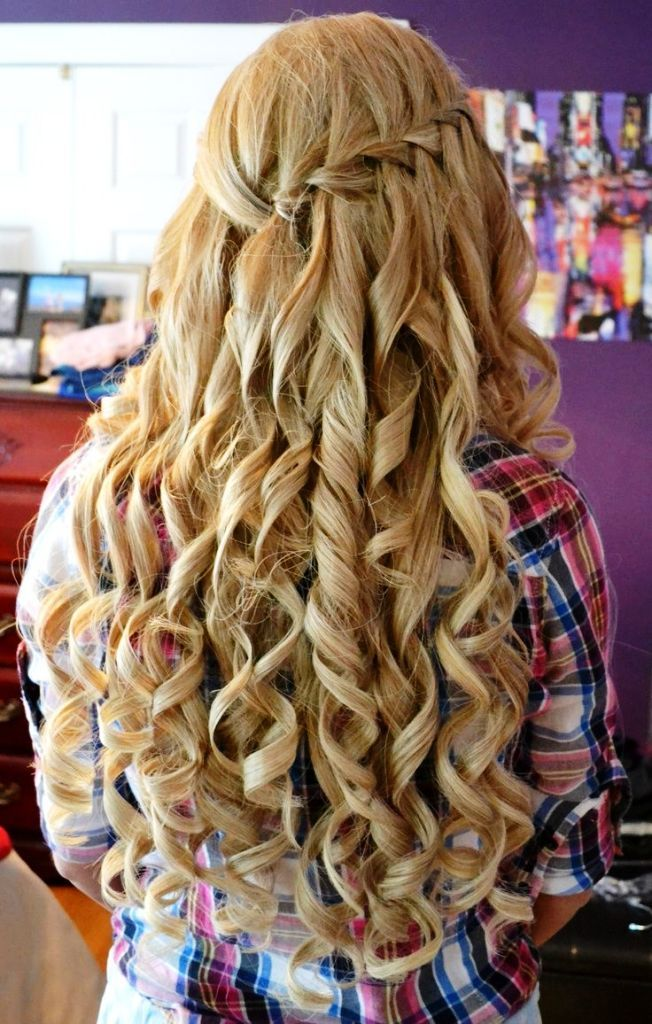 Curly Homecoming Hairstyle