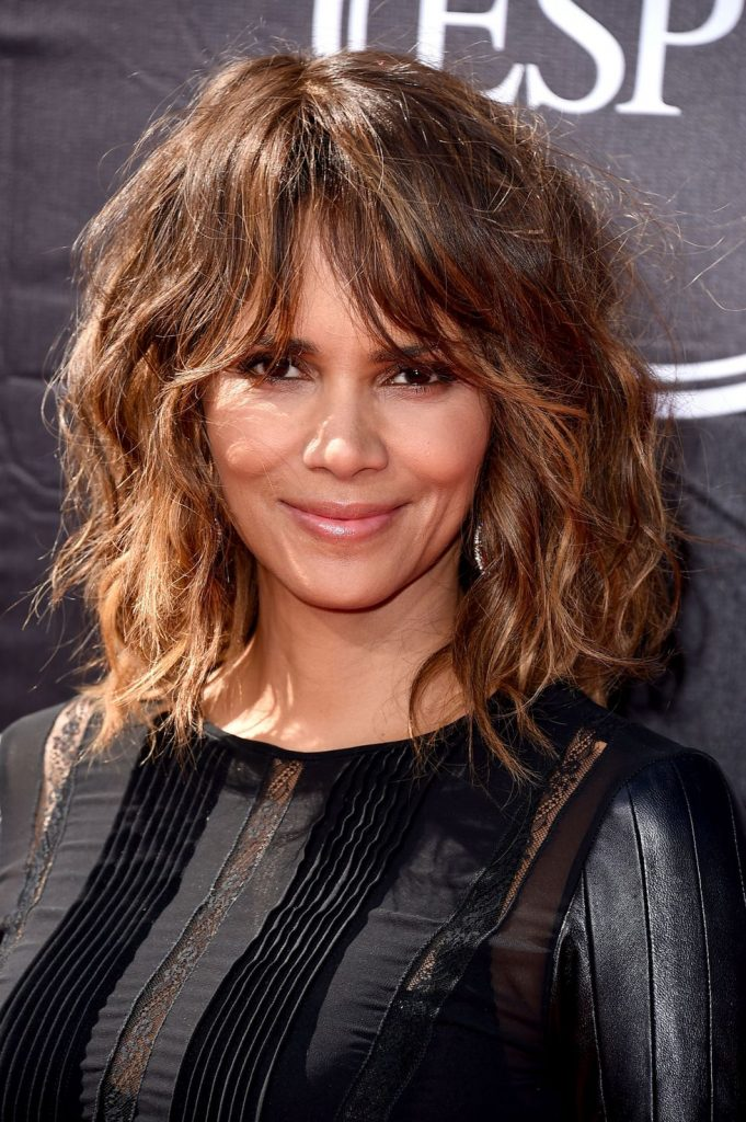 Beachy Waves with Bangs