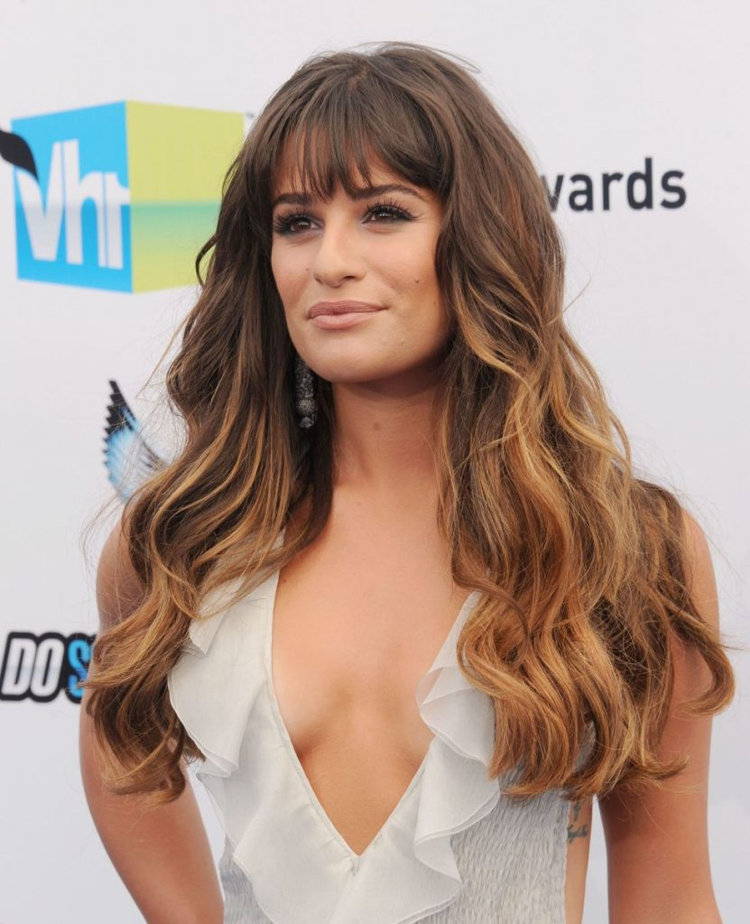 Fringe with Balayage Wavy Hair