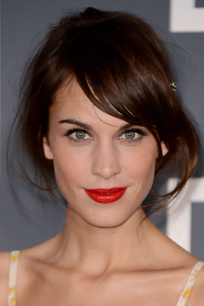 Hairstyle with Side Fringe