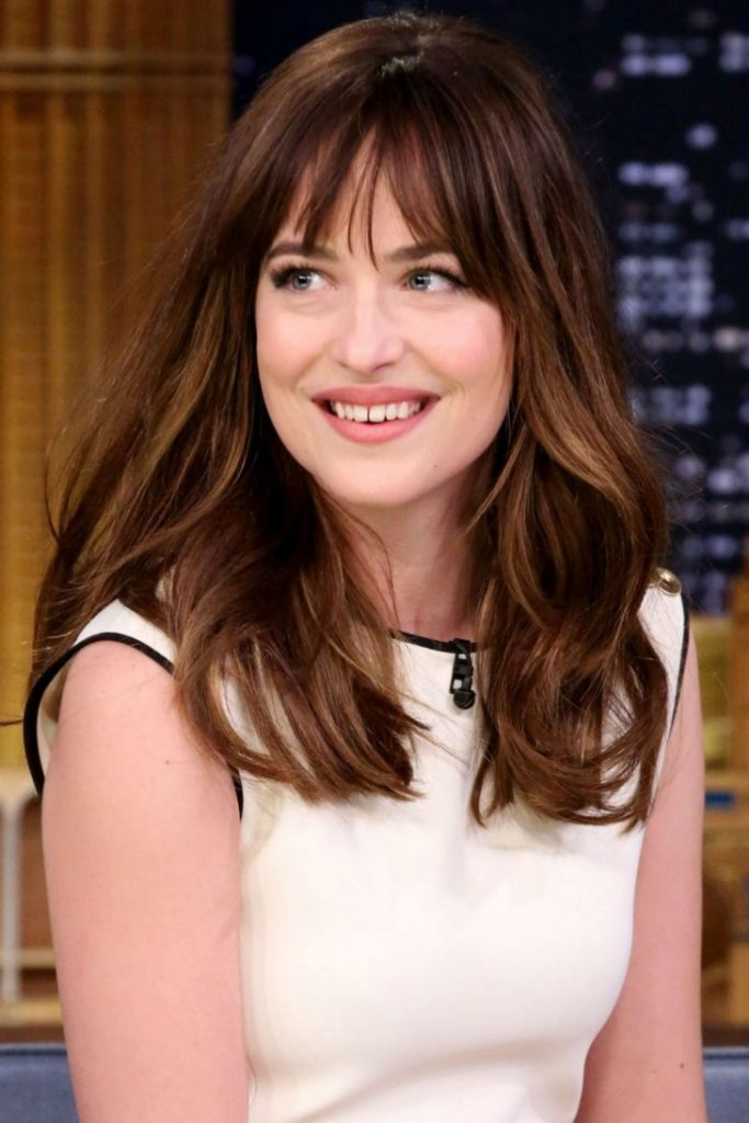 Dakota Johnson Fringe Hairstyle