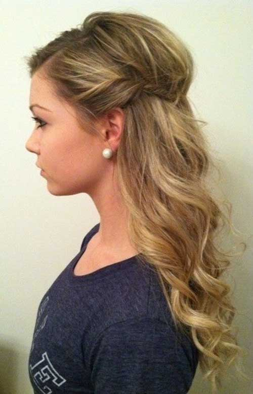 Medium Hairstyle with Curls