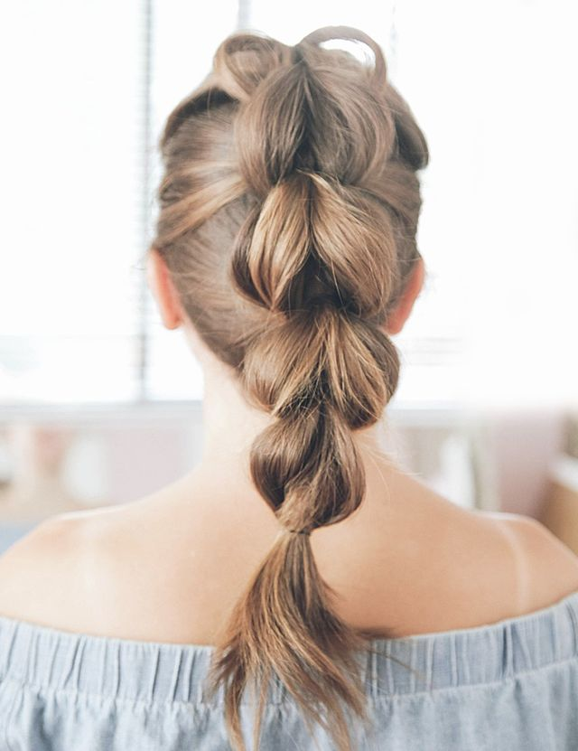 Pull Through Braid Hairstyle