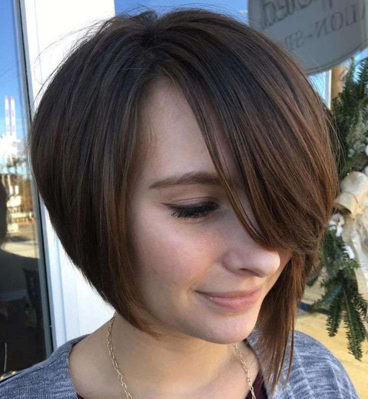 Brown Bob with Side Bangs