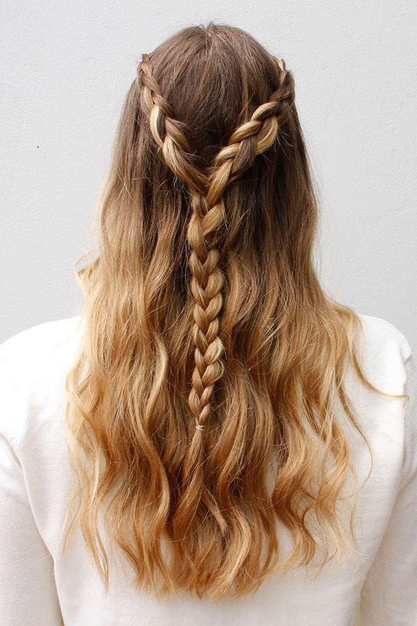 Lace Braided Half Up do