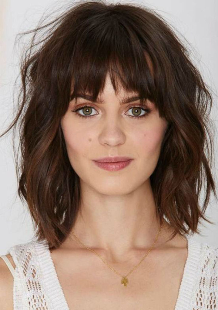 Medium Bob with Bangs