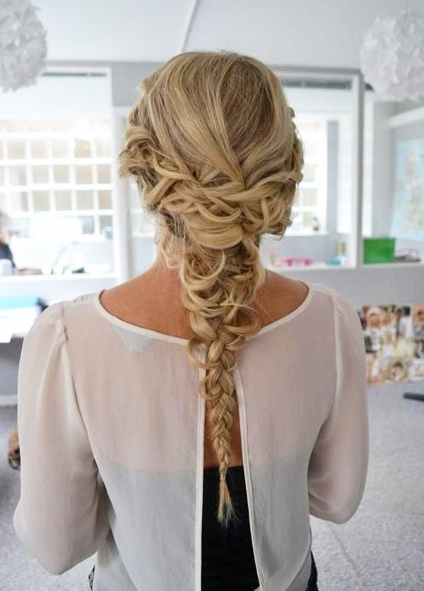 Braided Homecoming Hairstyle