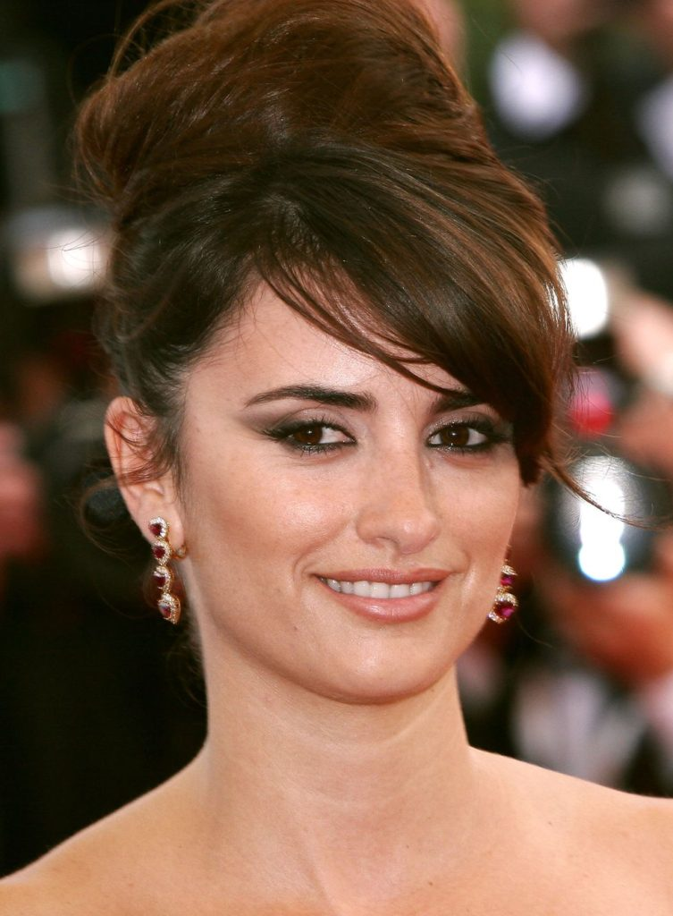 Bouffant Updo with Side Swept Bangs