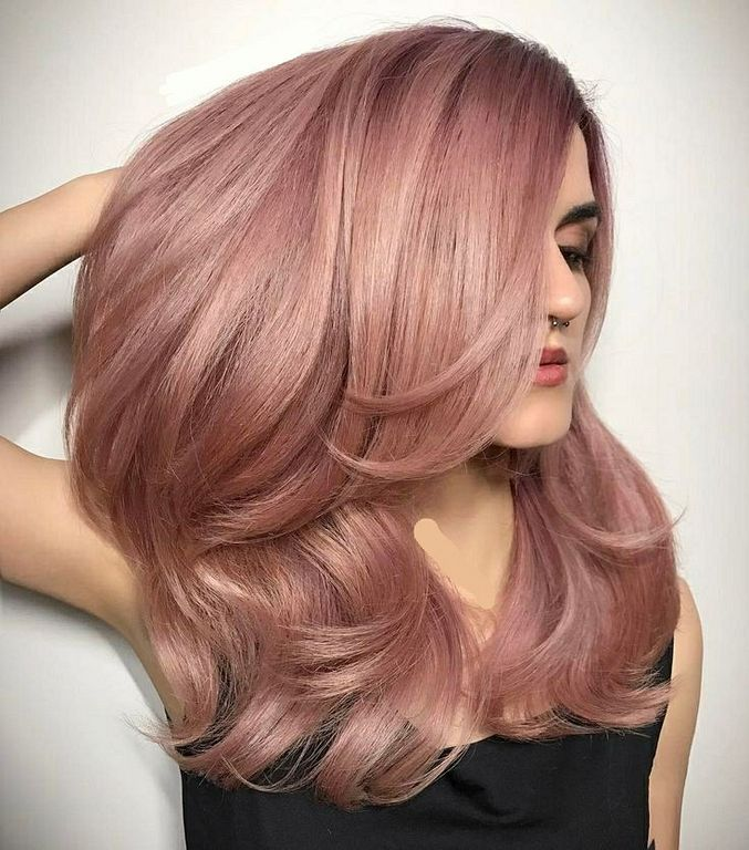 20 Rose Gold Hair Color Ideas for Women - Haircuts ...