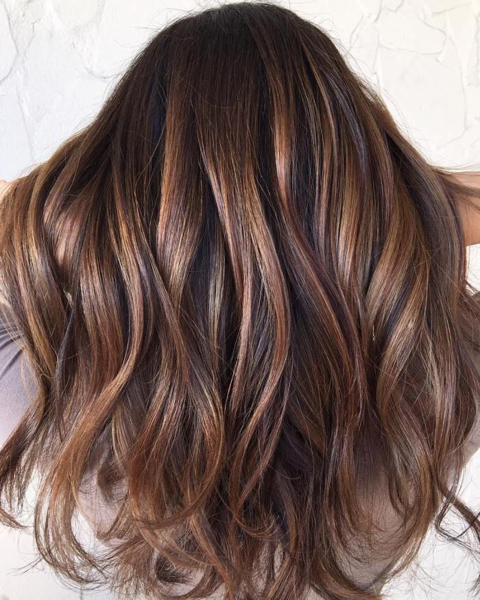 Sleek Back Balayage Hairstyle