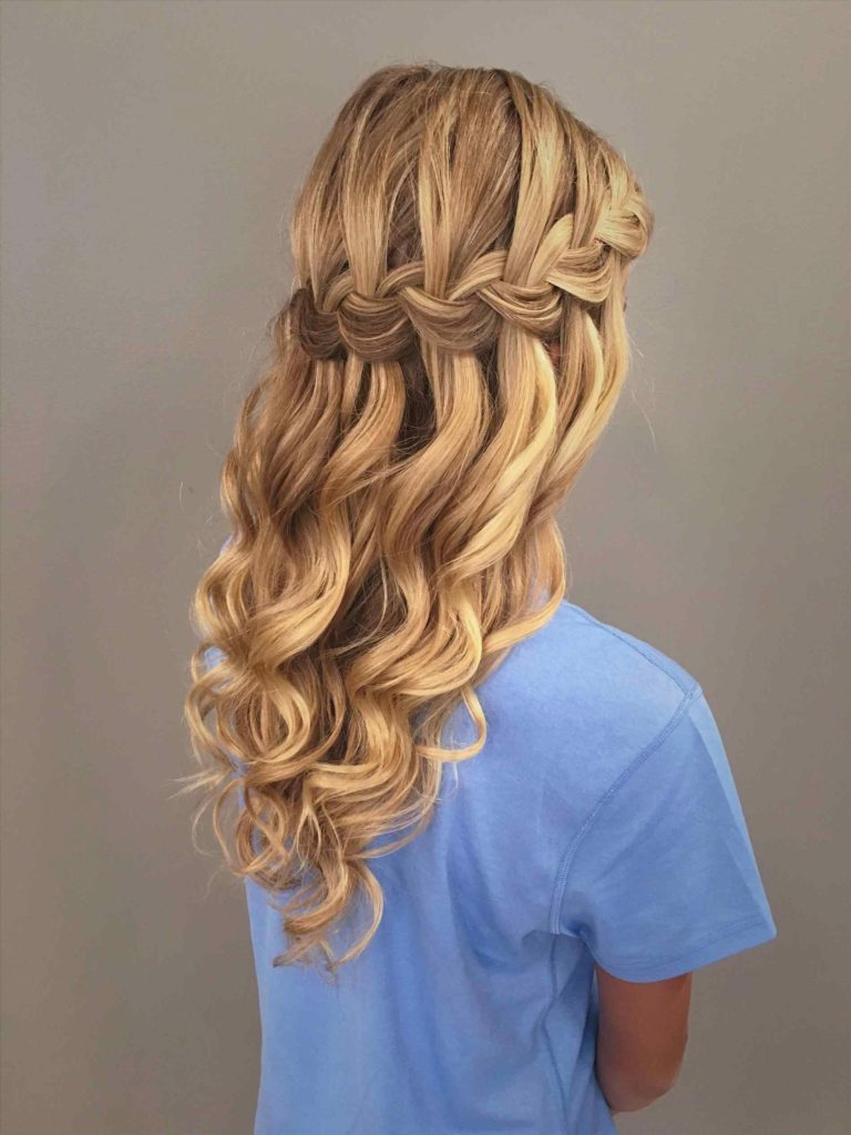 Braided Curly Hairstyle