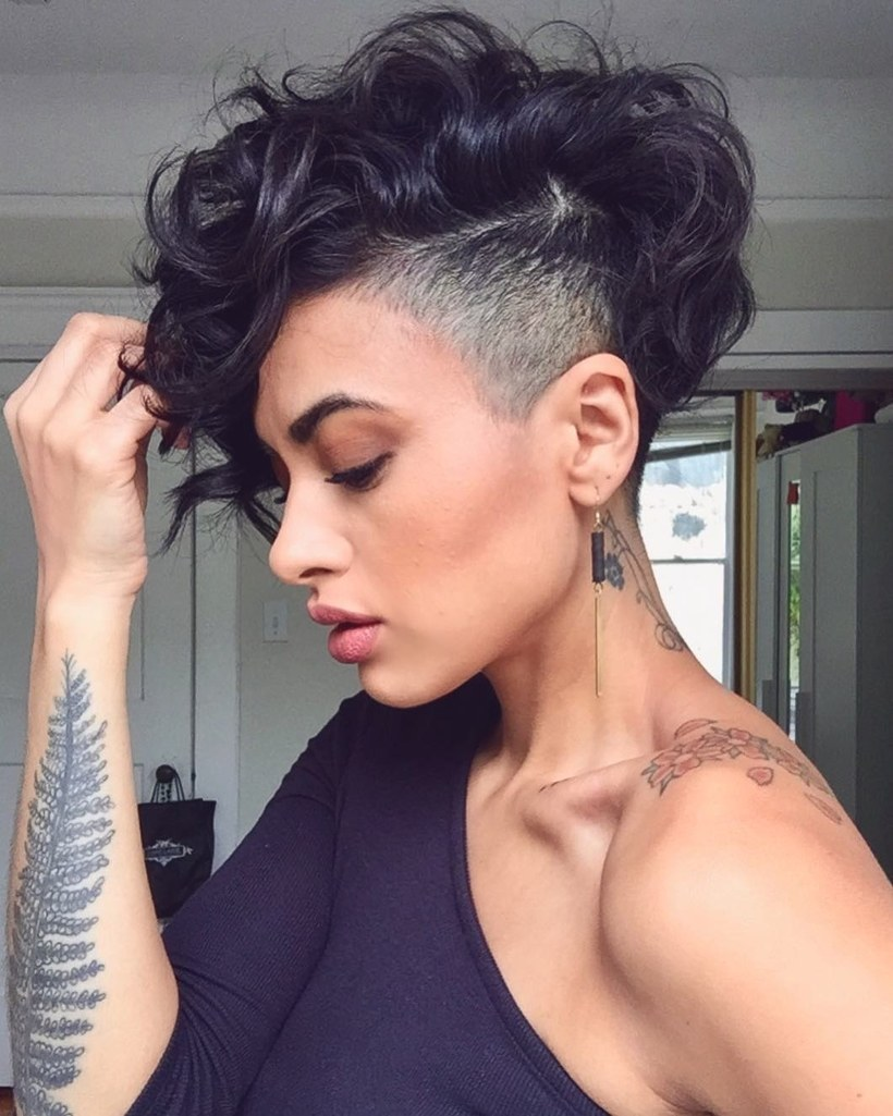Curly Pixie Cut