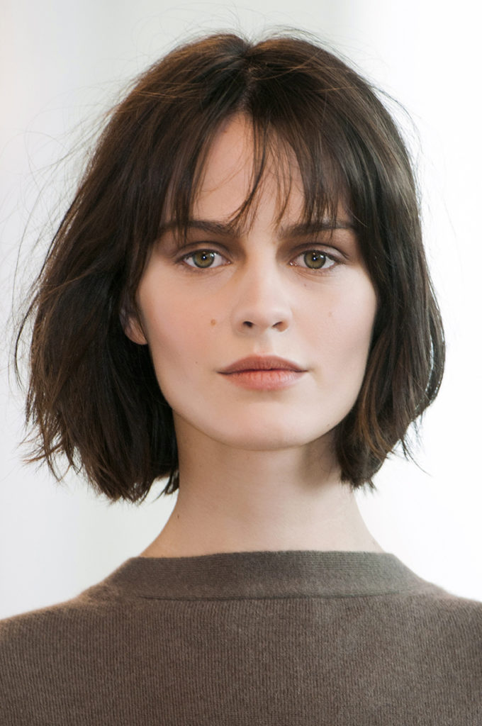 Short Wispy Bangs Hairstyle