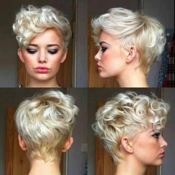 15. Blonde Short Curly Haircut