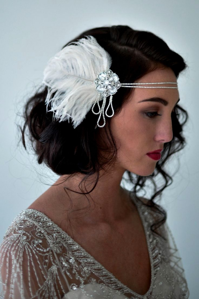 Hairstyle with Feathered Headband