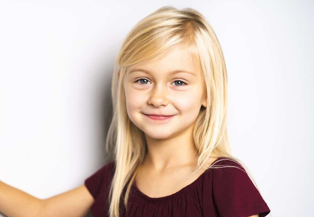 Hairstyle Ideas for Little Girls with Heart Faces