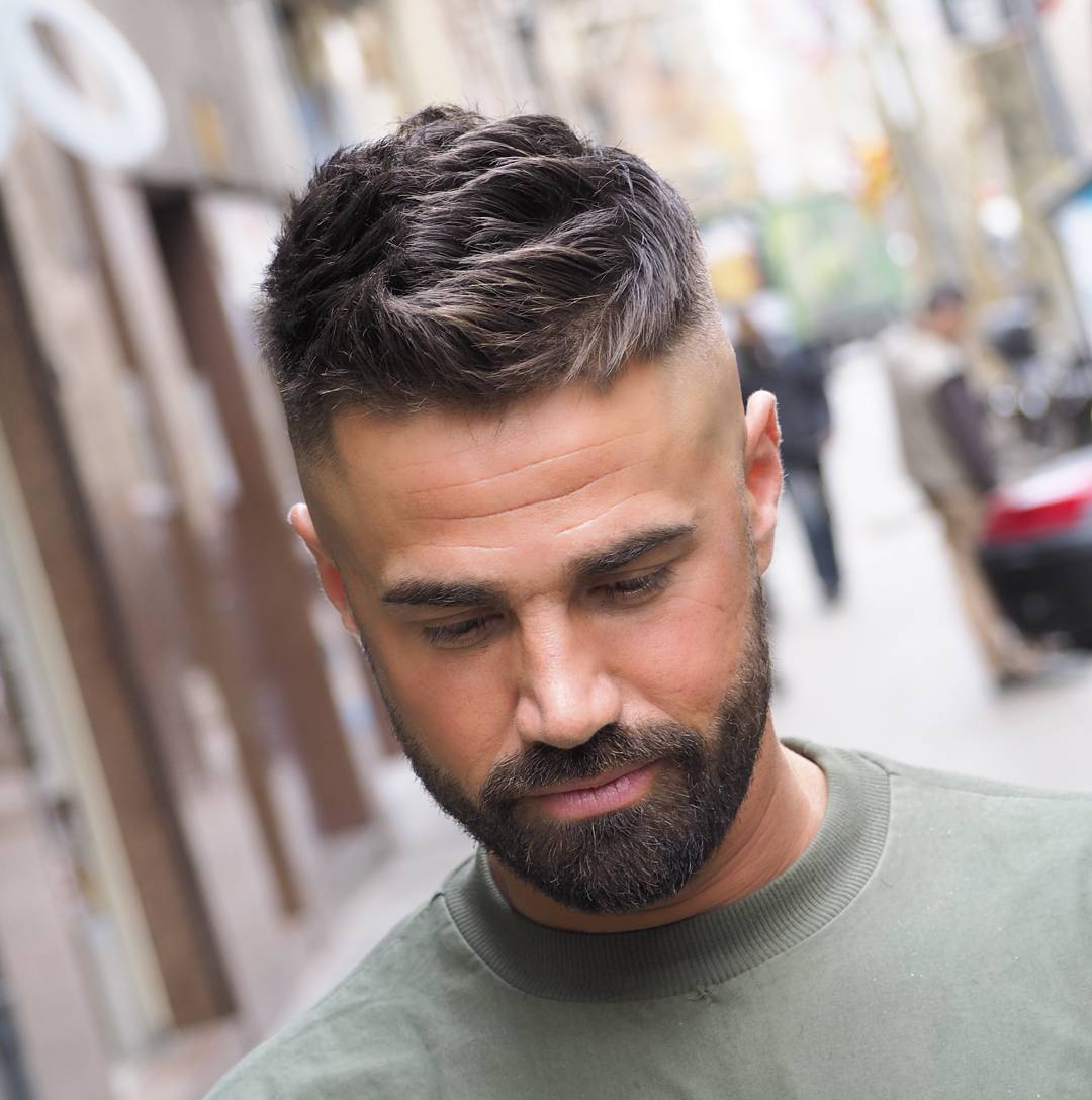 Short Hairstyles with Beard