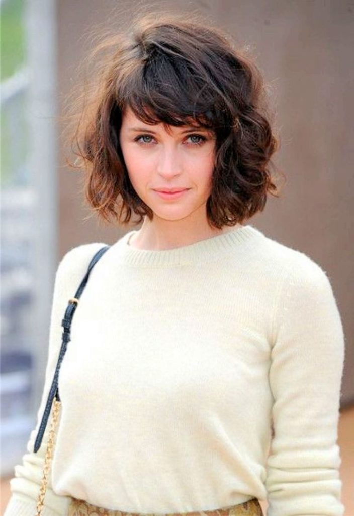 22 Urban Cool Curly Hairstyles with Bangs , Haircuts