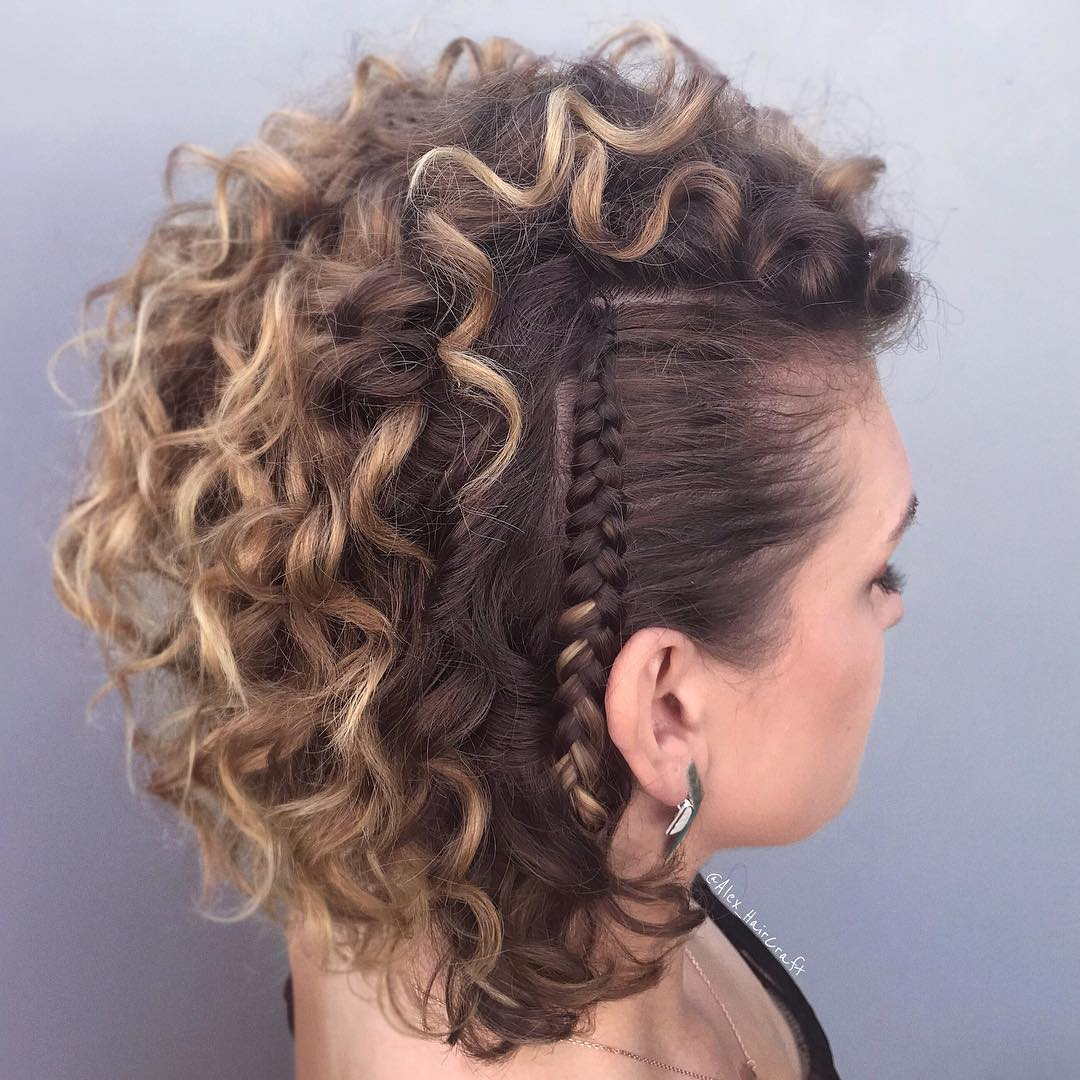 Curly Hairstyles with Braids