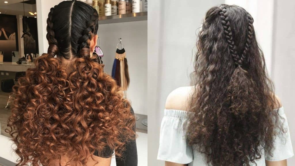 25 Worth Trying Curly Hairstyles with Braids - Haircuts ...