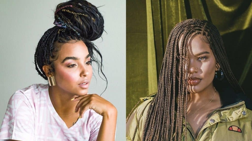 25 Bohemian Box Braids for Dazzling Look