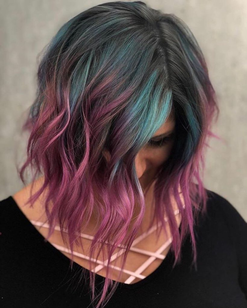 Medium Hairstyles with Color