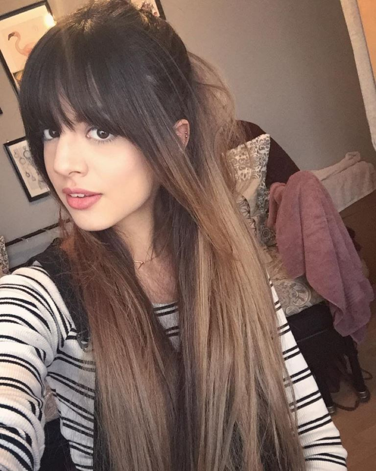 Long Hair with Bangs