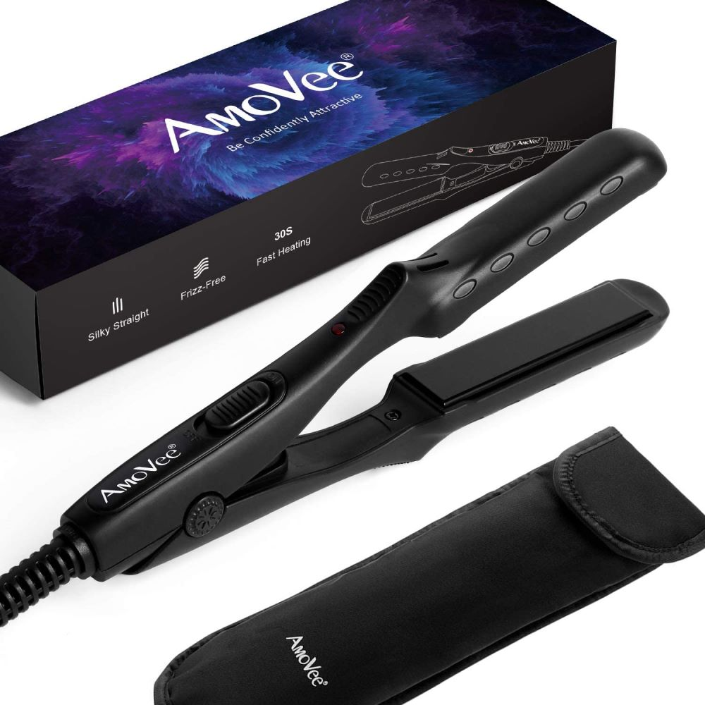 AmoVee Mini Flat Iron Hair Straightener