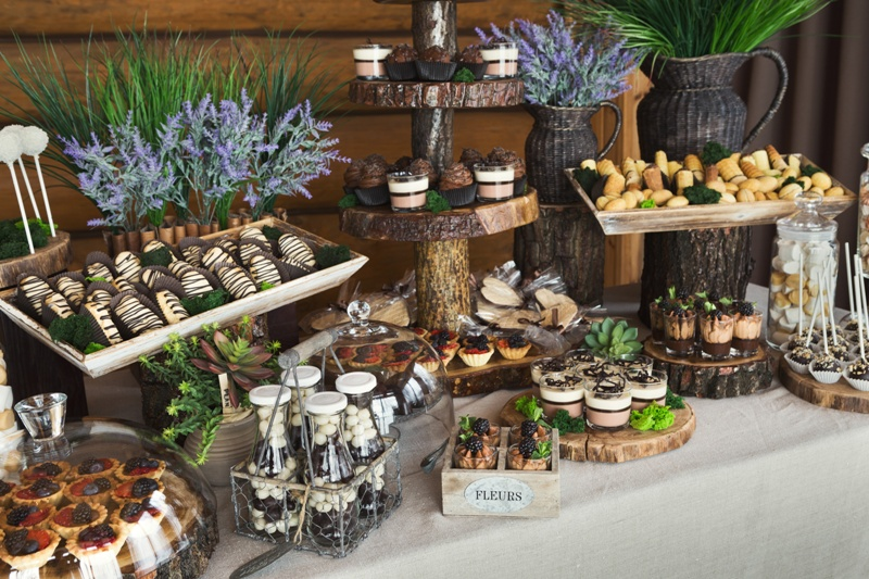 Candy bar for birthday party or wedding