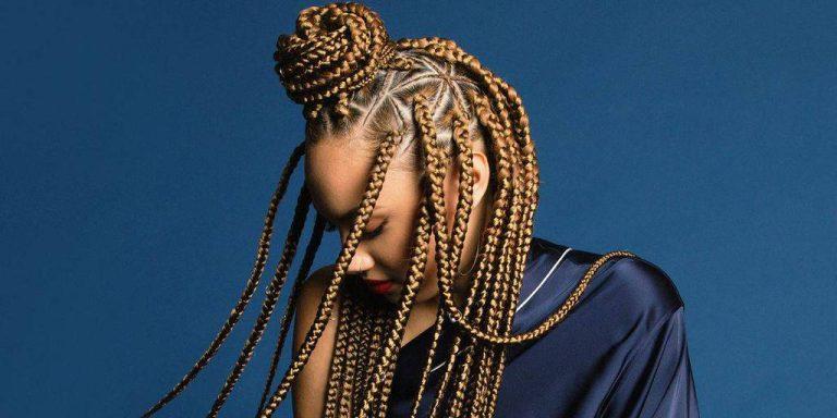 triangle box braids